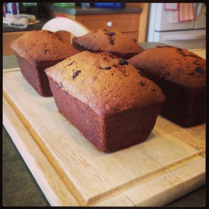 chocolate chip banana loaves