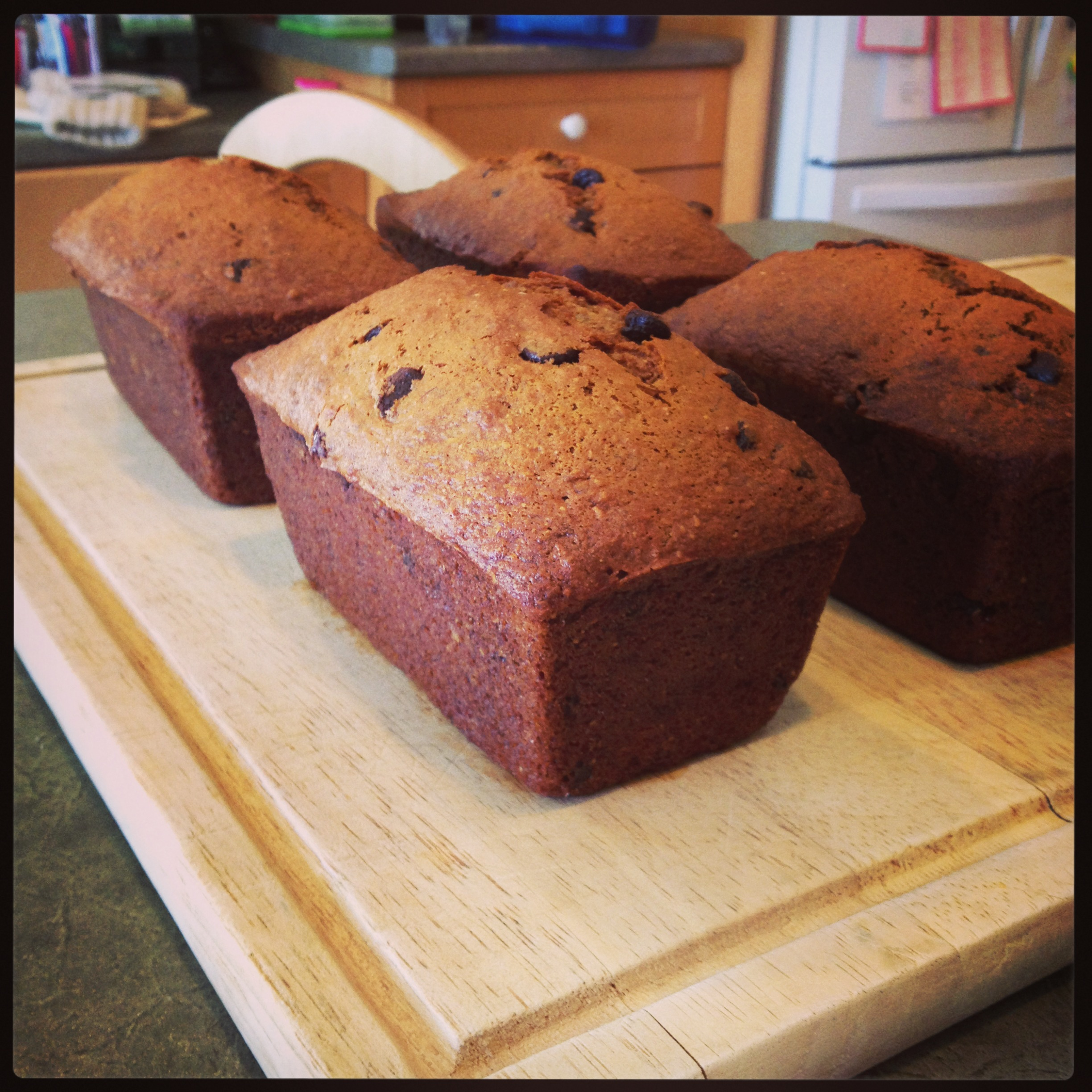 What a week this has been {and a recipe for Chocolate Chip Banana Loaves}