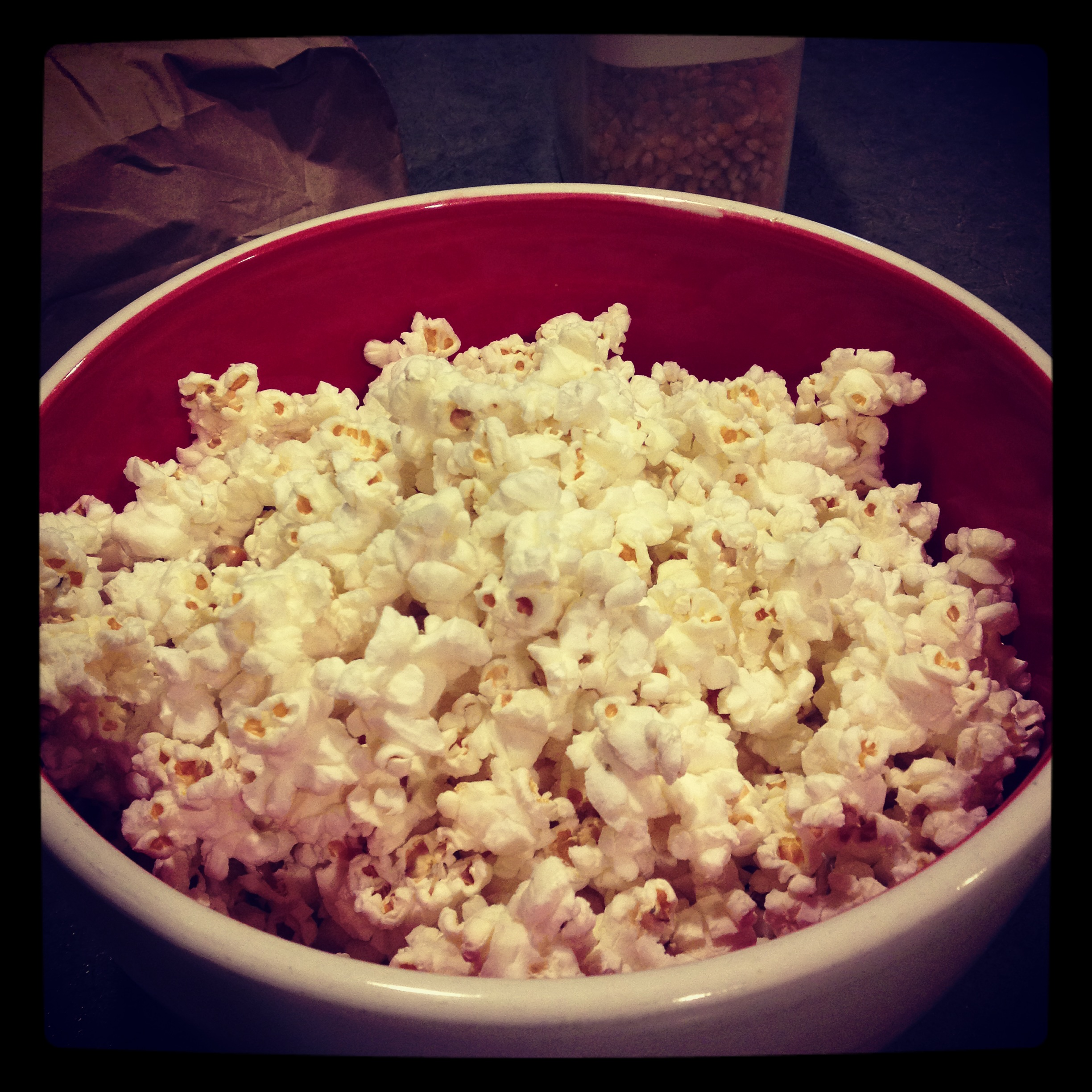 Make your own microwave popcorn!