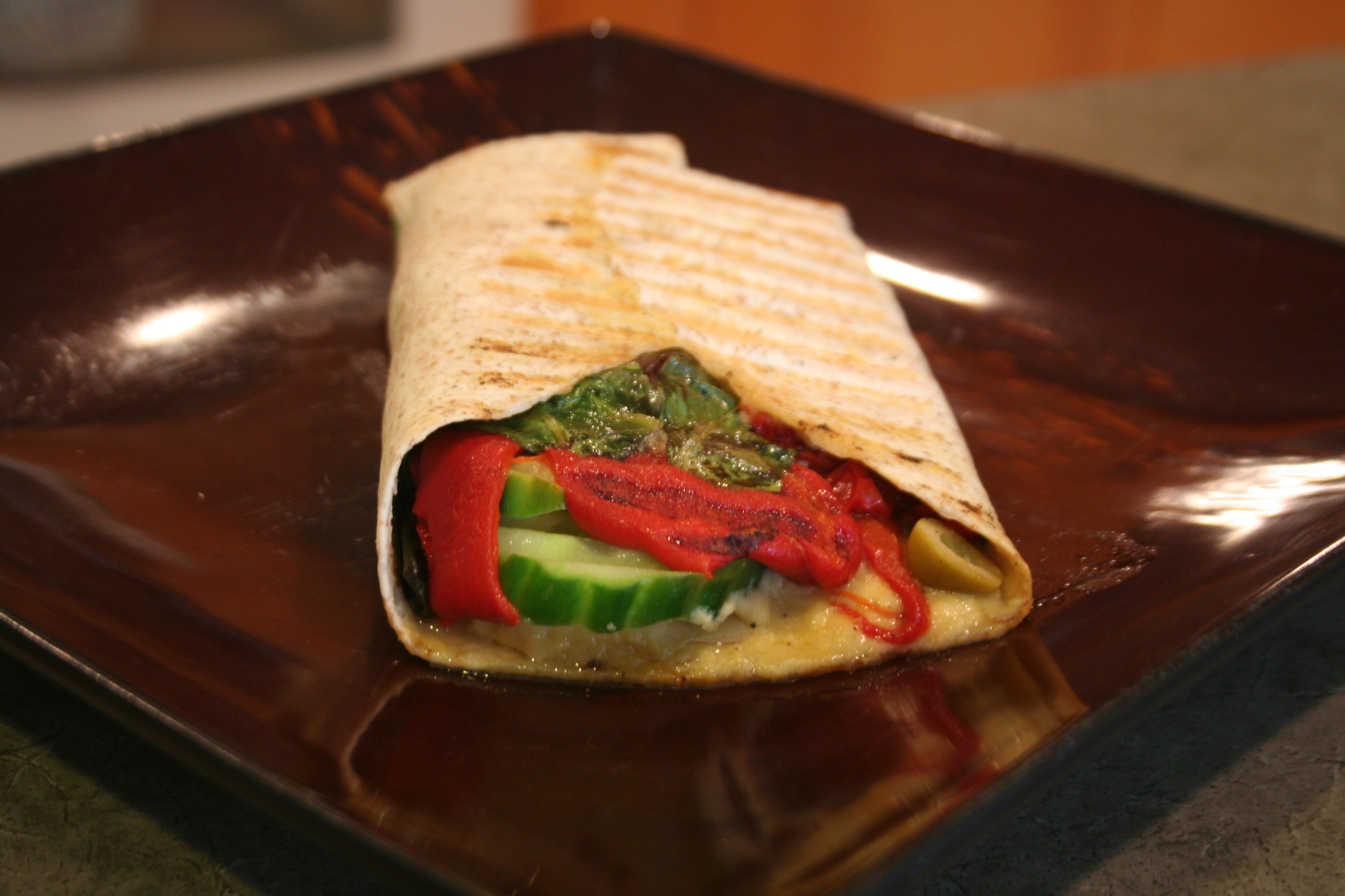 Grilled Hummus Wrap