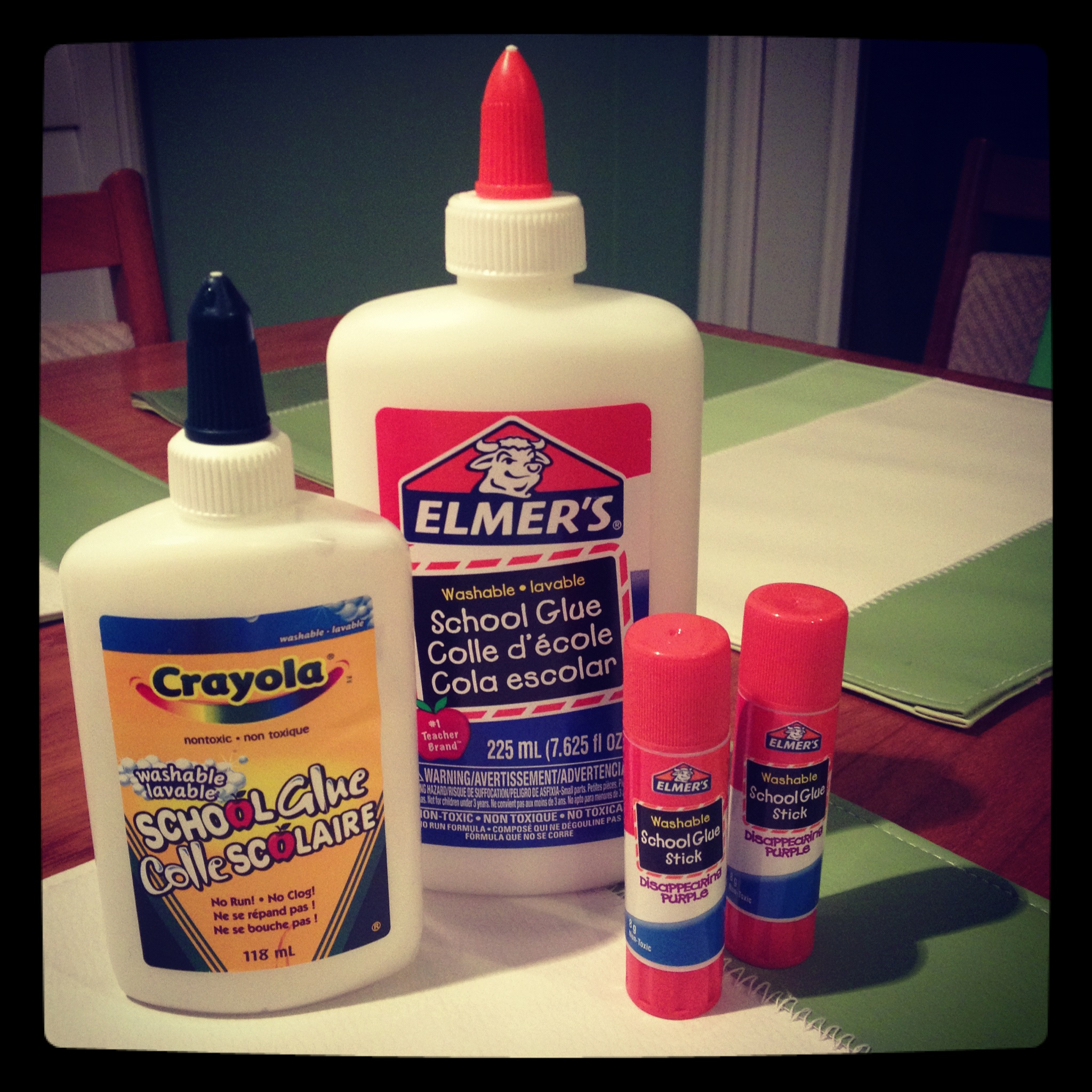 I'm grateful for glue